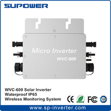 Waterproof IP65 Solar Grid Tie Micro Inverter WVC-600 Microinverter 600W with 433MHz Wireless Monitoring function