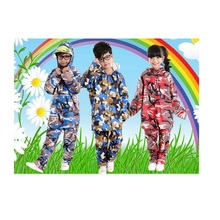 35pcs M-XXXL Colorful Camouflage Pattern Kids Raincoat Waterproof Rainwear Rain-proof Pants Student Rain Suit  Poncho  ZA0499