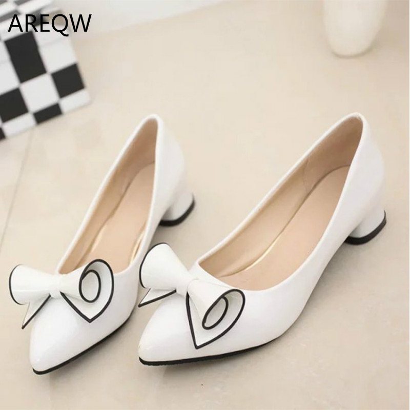 Sweet Girl Large Size Shoes Women Autumn High Quality Leather White Women Causal Pointed Bow Knot Flat Loafer Lady Shoes Femme<br><br>Aliexpress