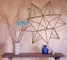 Origami Star Geometric Wall Decal Vinyl Sticker Art Decor Bedroom Design Mural H57cm x W57cm