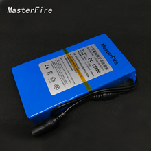 MasterFire 2pcs/lot New Portable 12V Li-ion Super Rechargeable Battery Pack DC for CCTV Camera 8000mAh Batteries(China)