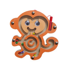 Magnetic Walking Beads Maze Animal Pattern fun Puzzle Educational Learning Toys(China)