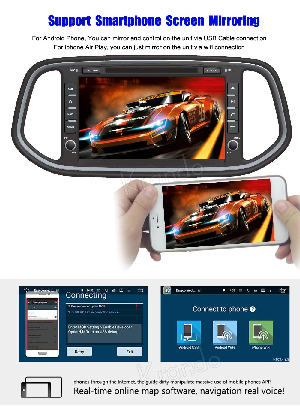 Krando Android car radio gps for kia kx3 2014+ navigation multimedia system (4)