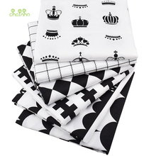 Chainho,Black&White,Twill Cotton Fabric For DIY Quilting Sewing/Tissue Of Baby&Children/Sheet,Pillow,Cushion,Curtain Material(China)