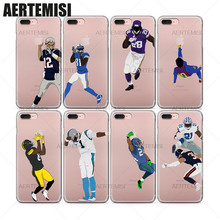 Aertemisi Phone Cases Super Bowl American Football Players Tom Brady Clear TPU Case Cover for iPhone 5 5s SE 6 6s 7 Plus(China)
