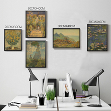 Pictures Decorated Bedrooms Cheap Small Picture The Poster Wall Claude Monet Water Lilies And Agapanthus(China)