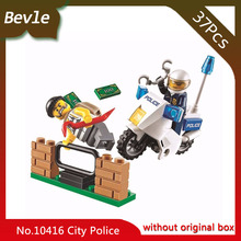 Doinbby Store Bela 10416 37pcs URBAN Series Track the bandit motorcycle Building Blocks Set Bricks Toys For Children 60041(China)