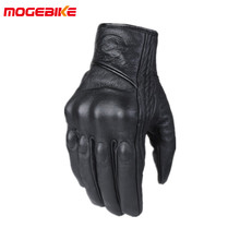 Free shipping Leather Winter Motorcycle Gloves Cycling Moto Motorbike Protective Gears Motocross Glove(China)