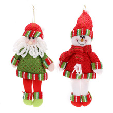 New Santa Claus Toys Snow Man Reindeer Dolls Christmas Decoration Xmas Tree Hanging Ornaments Pendant Best Gift(China)