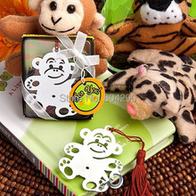 Wedding Gifts Jungle Critters Collection Monkey Bookmark Baby Shower Favors Free Shipping 100 PCS
