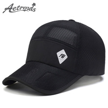 [AETRENDS] 2017 New Summer Hats Mesh Hollow Baseball Cap Men Quick-Drying Breathable Women Caps Z-5076()