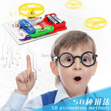 58 projects Electronics Discovery Kit,Snap circuits Smart Electronics Block Kit,Educational Science Kit Toy,Best DIY Toy