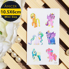 My Little Pony Luna Child Temporary Tattoo Body Art Flash Tattoo Stickers 10.5X6cm Waterproof Tatoo(China)