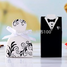 100pcs Bride And Groom Wedding Favor Boxes Wedding Invitation Gifts, Party Decoration Supply.decoracion Boda Sweet Box