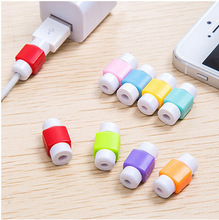A Ausuky 10 Pieces USB Cable Protector Sleeve Mobile Phone Charger Cord Protector Silicone for Cable Line Protective -25(China)