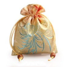 Thicken chrysanthemum Small Packaging Bag Drawstring Silk Brocade Gift Pouch Jewelry Trinket perfume Makeup Tools Storage Pocke(China)