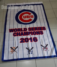 Chicago Cubs World Series 2016 Champions Flag 3X5FT 90x150cm Sport Outdoor Custome Flag Banner brass metal holes CC1