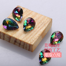 4*6mm,6*8mm,7*10mm,50pcs/pcak flame rhinestone pointback nail art loose rhinestones,DIY necessary(China)
