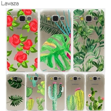 Lavaza Plants Cactus Banana Leaves Hard Transparent Case for Samsung Galaxy S3 S4 S5 & Mini S6 S7 S8 Edge Plus(China)