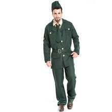 Fashion Mens Police Cosplay Costume Cops Adult Uniform Officer Fancy Dress Costume Party Halloween Costumes For Men A155807(China)