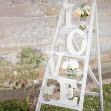 Free shipping Wedding Decorations Mariage Decor Birthday Party Decorations White Letters Sign Hot Home Wood Alphabet(China)