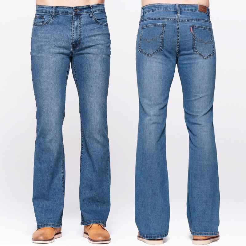GRG Mens Boot Cut Jeans Slim Fit Mid Waist Slightly Flared Blue Jeans Classic Stretch Denim Pants Fashion TrousersÎäåæäà è àêñåññóàðû<br><br>