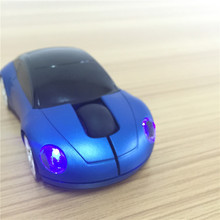 Top Quality! New Fashion Sports Car Shape 2.4GHz 1600DPI Optical Mice Wireless Gaming Mouse For Computer Laptop PC