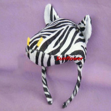 Children Adult 3D Animal Zebra Headband Headdress  Party Dress Cosplay Hair Accessories New Year