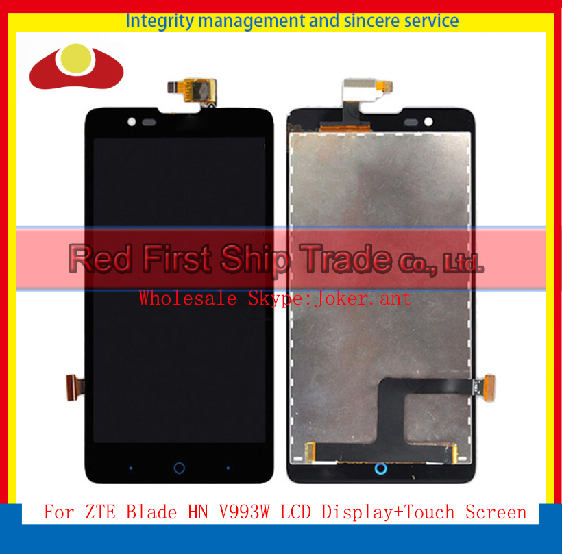 High Quality 5.0 For ZTE Blade HN V993W L3 Plus Full Lcd Display Touch Screen Digitizer Panel Assembly Complete Black+Tracking<br><br>Aliexpress