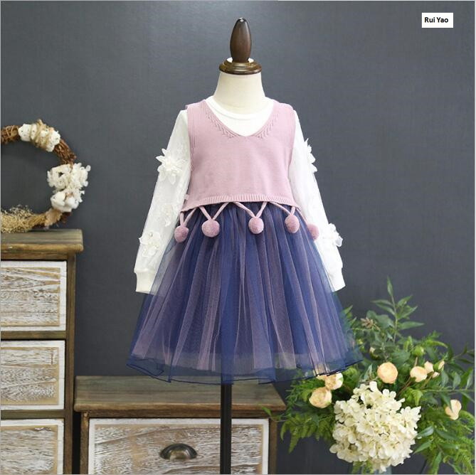 286873 2018 Spring Fashion Baby Girls Dress Lace Toddler Girls Princess Dress Baby Girl Dress Wedding Dress Baby Clothing <br>