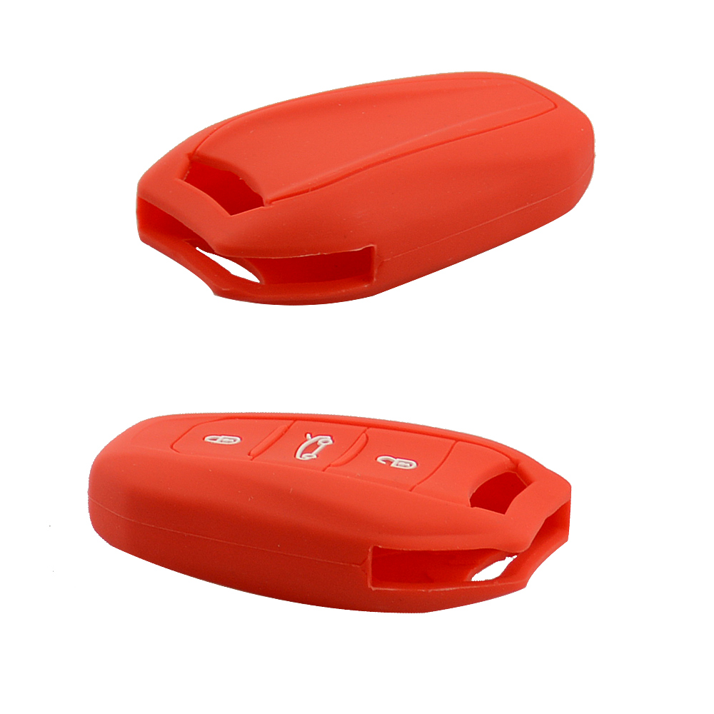 3 buttons silicone car key shell for Citroen 4