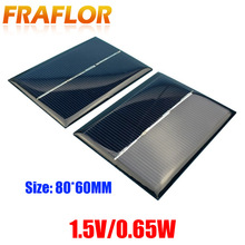 10Pcs 0.65W 1.5V Solar Panels DIY Solar Cell Solar Panel Module Energy Epoxy Plate 60x80x3MM Panneau Solaire Battery Charger