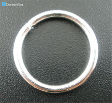 Doreen Box Lovely 100PCs Silver color Open Jump Rings 16mm Dia.Findings (B03127)(China)