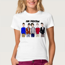 Unique design 1D T-shirt women's short sleeve One direction t shirts fashion tops summer cute cool male tees