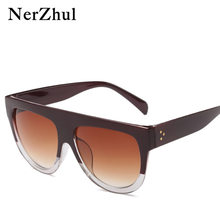 NerZhul Nova Moda Óculos de Sol Mulheres Vogue Half Round Brown Óculos de  Sol Gradiente Óculos de Sol de Venda Quente Do Sexo Fe. 839e6352e1