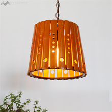 JW_Southeast Asian Style Chandelier Simple Creative Bamboo Pendant Lamp Restaurant Livingroom Nongjiale Garden Lamp Cafe Shop(China)