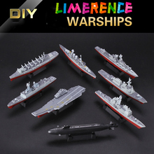 8pcs/lot 4D Model Assembled Ship Model 1/2000warships Aircraft WWII Military Assembled Model  Miniature  Carrier Battle Group
