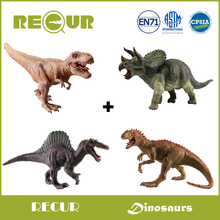 4 pcs/set Recur Toys Original Design Highly Detail PVC Dinosaur Model Hand Painted Soft Toys Christmas Gift Collection For Kids(China)