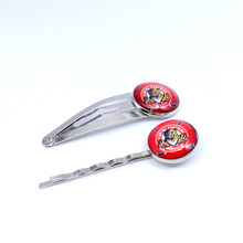 NHL Florida Panthers Charm Women Hairpin Girls Hair Grips Kids Hair Clips Accessories Ice Hockey Jewelry Fashion 2017(China)