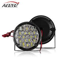 AOZBZ 2pcs 18 LED Car Light Cool White LED Daytime Running Light LED Fog Light Head Lamp Car Styling 12V New Super Bright(China)