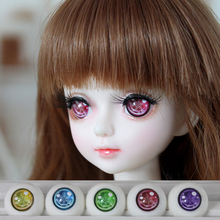 1 Pair Beautiful Snowflake Pattern Acrylic Eyes for Doll 1/3 1/4 1/6 BJD Doll Eyes 12mm 14mm 18mm Toys Dolls Accessories(China)