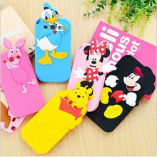 Fashion 3D cartoon mickey minnie  Donald Duck rubber Verney cellphone silicone cases covers For samsung galaxy S3 S4 S5