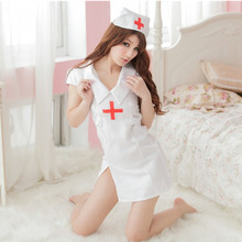 Buy Women sexy erotic latex nurse costume doctor costumes lingerie cosplay girls white hot nurses uniforms custome outfit dress