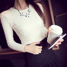 Women's Knitwear Long Sleeve Twist Crochet Warm Knitting Sweater Jumper