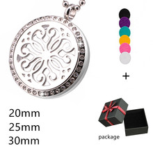 Chrysanthemum Perfume Locket Pendant Elegant Crystal Fragrance Jewelry Aromatherapy Essential Oils Diffuser Necklace