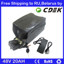 20AH 48V 1000W electric bike battery 48V 20AH lithium ion battery with 30A BMS 54.6V 2A charger Free Shipping to RU / Belarus