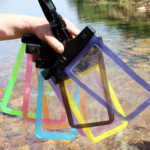 Inflatable Waterproof Travel Mobile Bags Underwater Dry Case Cover(China)