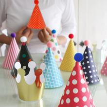 11pcs/Lot Event & Party Supplies Kids Party Supplies Cartoon Birthday Hat Cute Child Party Hat Birthday Paper Hat(China)