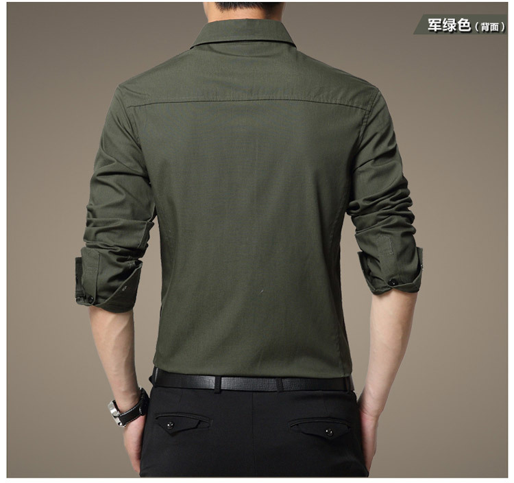 Famous Camisa Male Shirts Long Sleeve Men Shirt Fashion Casual Business Formal Shirt Chemise Homme Autumn Brand Clothing (10)