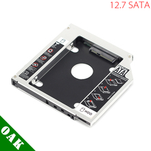 [Free Shipping] 12.7mm Aluminum SATA to SATA Second HDD Caddy Enclosure Case for Laptop